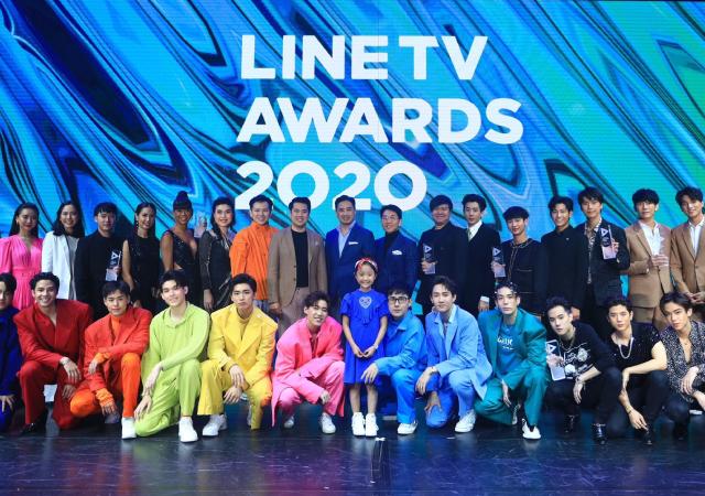 Atores BL em premiação do Live Tv Awards 2020
