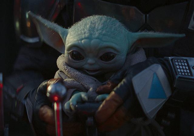 Baby Yoda cena da série The Mandalorian