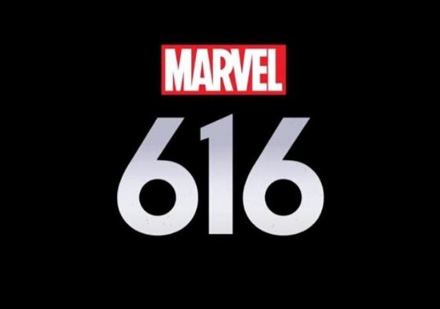 """Fundo preto escrito """"Marvel 616"""""""