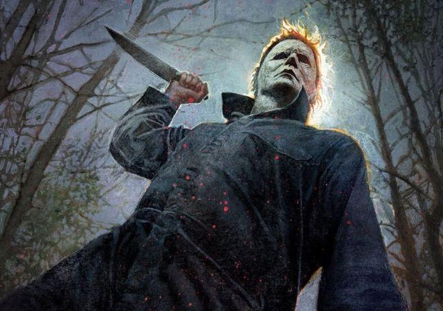 Michael Myers de Halloween Kills com uma faca na mão