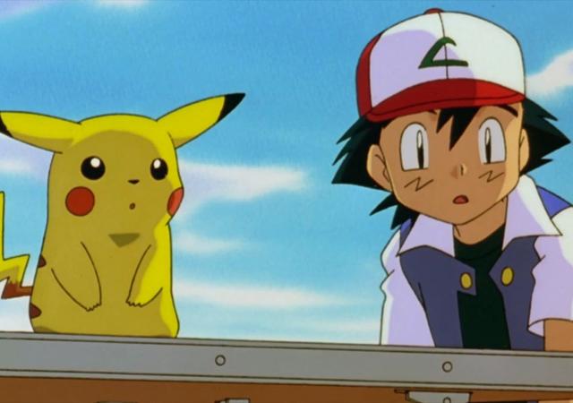 Imagem de Pikachu e Ash em Pokémon: O Filme - Mewtwo Contra-Ataca, que será exibido no Telecine