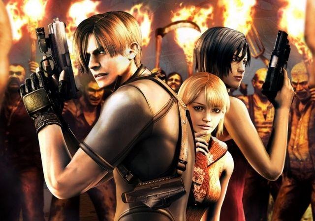 Personagens do Resident Evil seguram armas entre o fogo