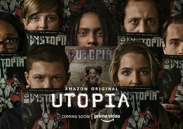 Pôster da série Utopia, com 7 pessoas