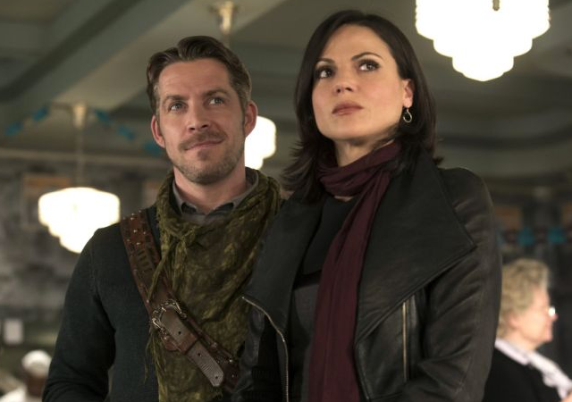 Lana Parrilla e Sean Maguire em Once Upon a Time