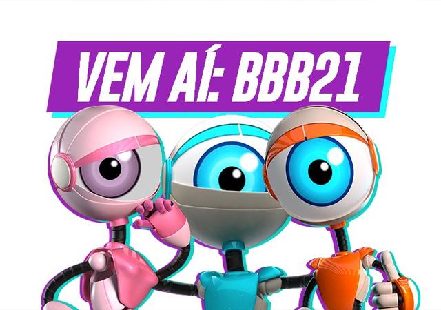 Imagem em que está escrito vem aí BBB21