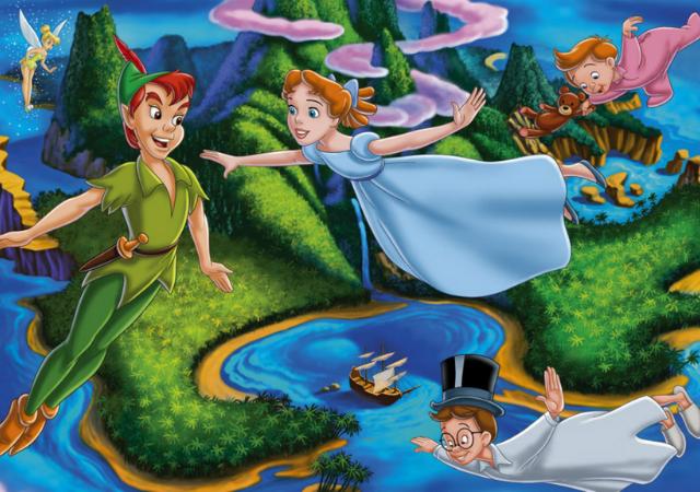 Peter Pan voa com Wendy